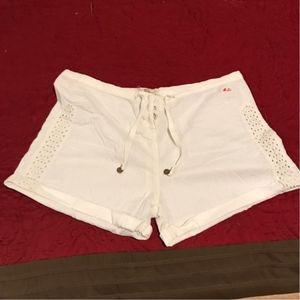BNWOT- ivory shorts w/ eyelet panel